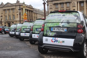 Advertising campaign with 200 Smart cars